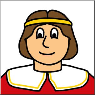 304x304 Clip Art Cartoon Faces Prince Color 1 I Abcteach