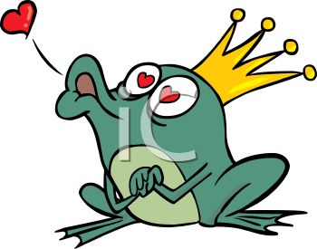 350x275 Color Frog Prince Blowing A Kiss