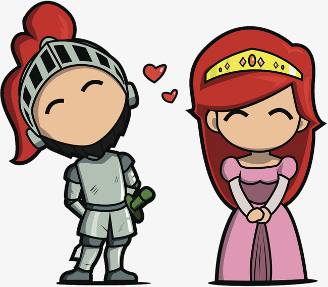 650x568 Cartoon Illustrations Of Princesses And Knights, Cartoon