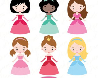 340x270 Knights And Princess Digital Clipart Pretty Little Princesses