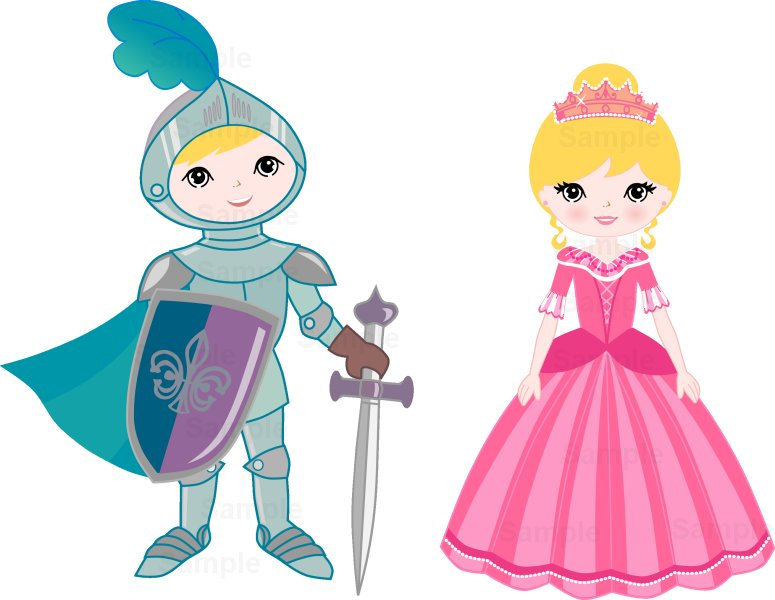 775x600 Princess And Knight Clip Art Set From 1everythingnice On Etsy Studio