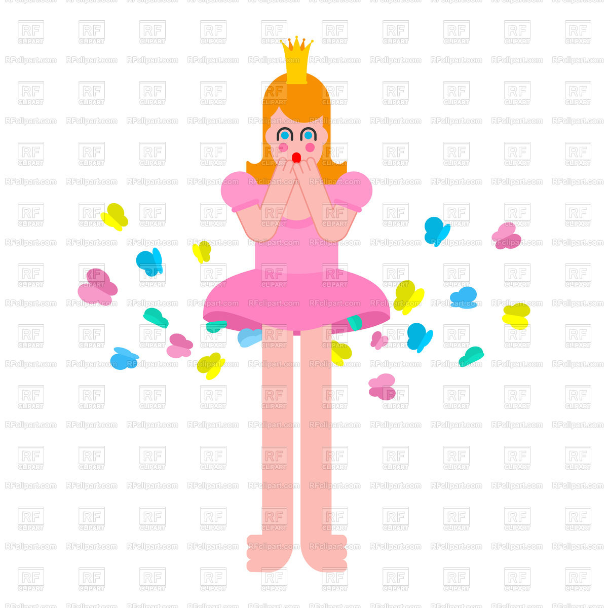 1200x1200 Princess Farts With Butterfly. Woman Farting. Royalty Free Vector