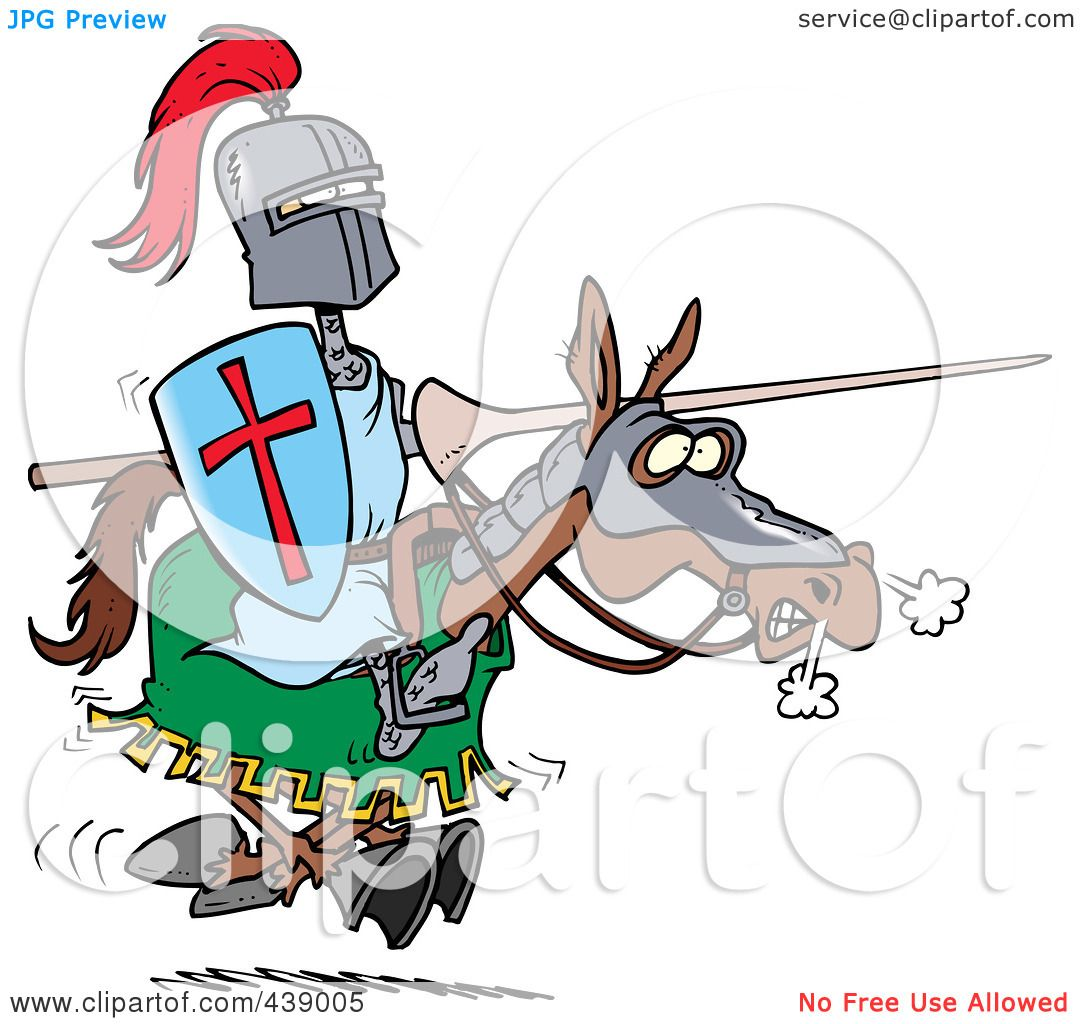 1080x1024 Royalty Free (Rf) Clip Art Illustration Of A Cartoon Jousting