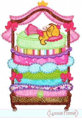267x390 Princess And The Pea Applique