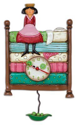 249x400 Princess And The Pea Decorative Glass Pendulum Clock