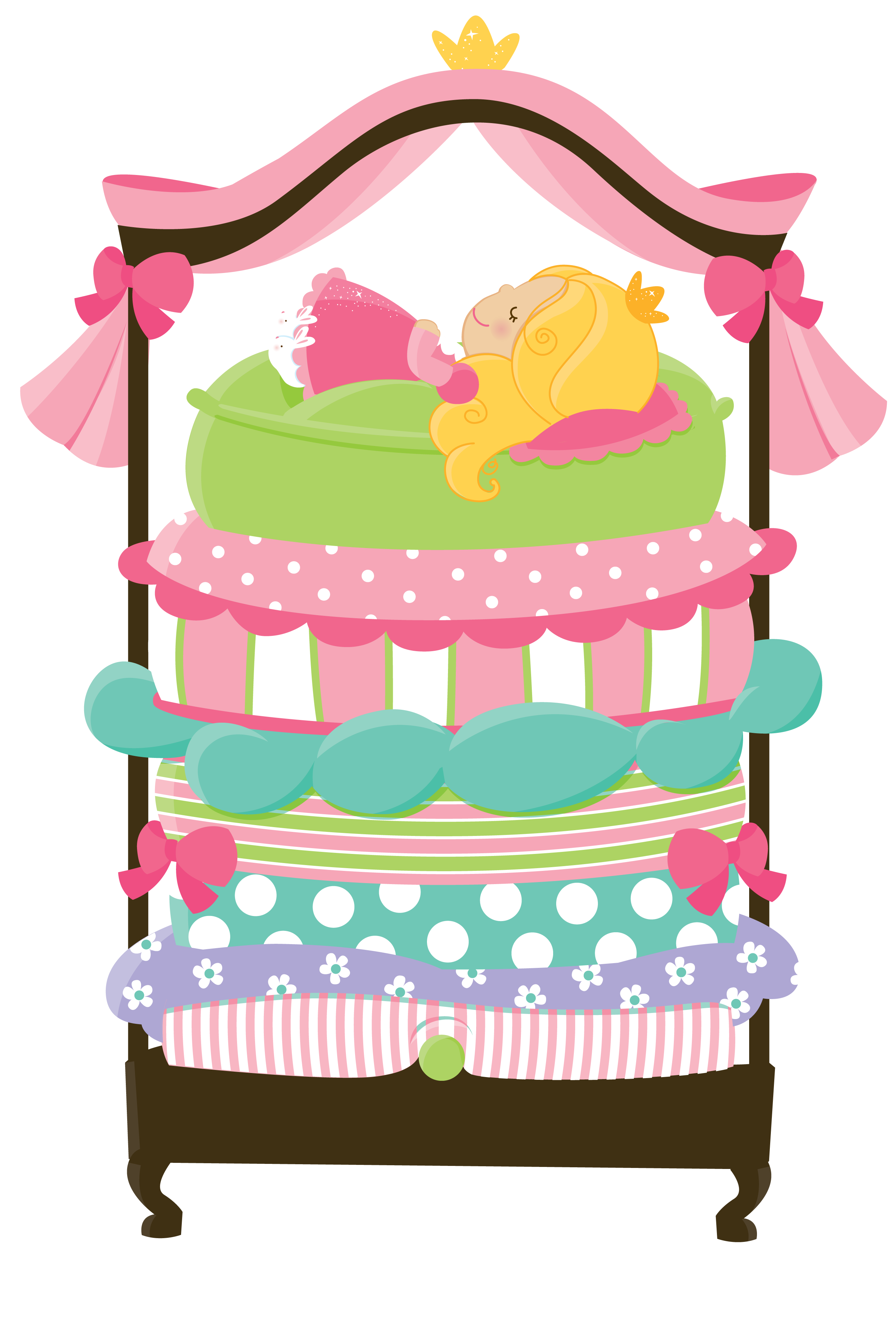 2642x3913 The Princess And The Pea Clip Art