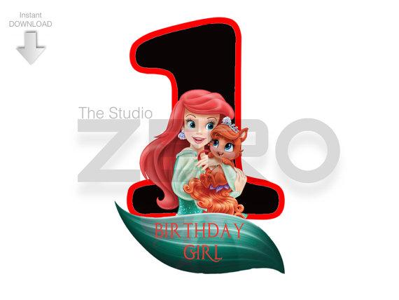 570x428 Princess Ariel Clipart, First Bday Shirt, Ariel Iron
