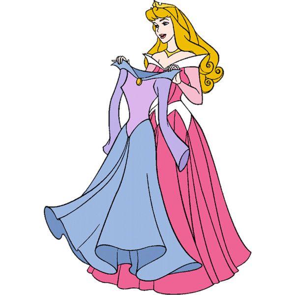 600x600 Briar Rose Aurora Sleeping Beauty Clip Art Holding Dress. She