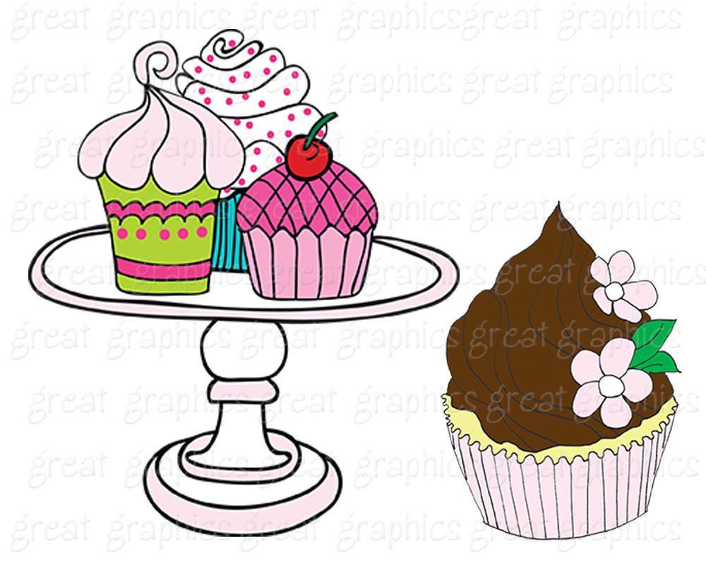 1000x800 Cupcake Clipart Digital Clip Art Princess Party Cupcake Ballerina