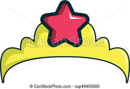 450x309 Little Princess Crown Icon, Cartoon Style. Little Princess Clip