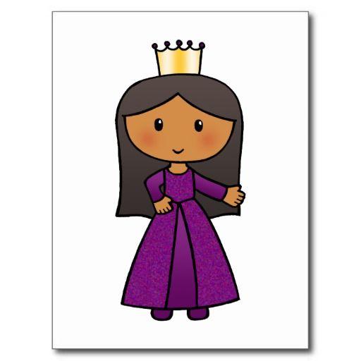 512x512 Cartoon Clip Art Cute Princess With Tiara Postcard Cartoon