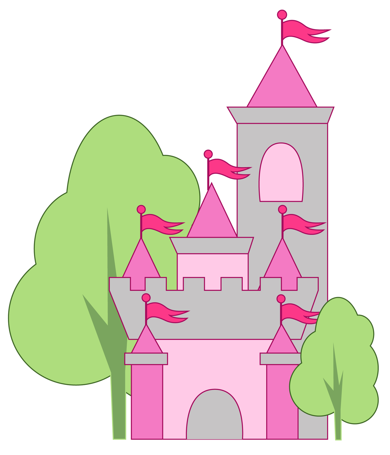 Princess Castle Clipart at GetDrawings.com   Free for personal use ...