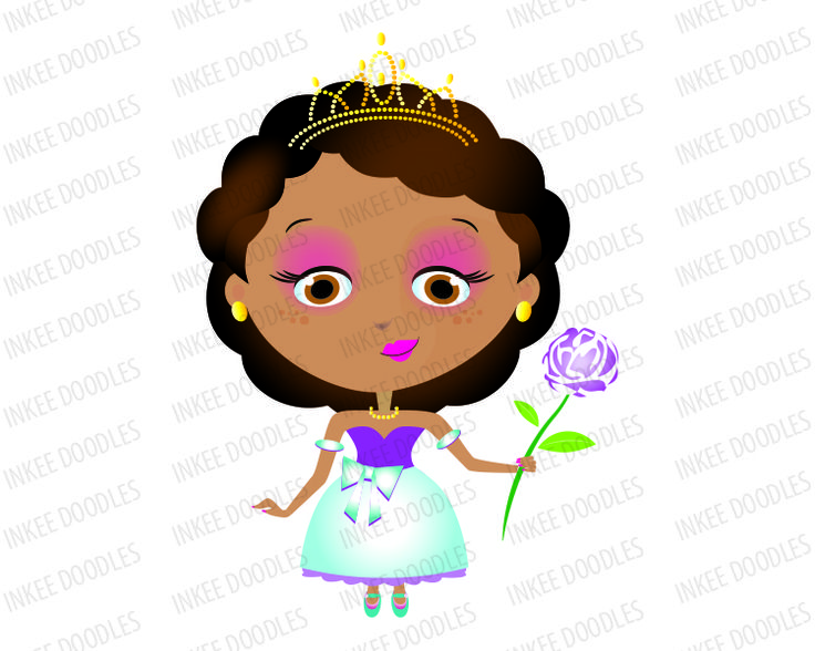 736x588 Black Princess Clipart