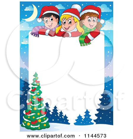450x470 Christmas Tree Clip Art Borders Happy Holidays!
