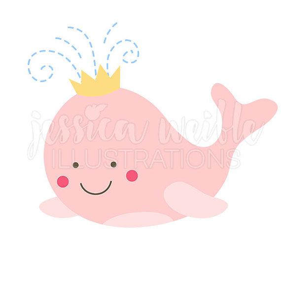 570x570 Pink Whale Princess Clip Art Cute Digital Clipart Whale Clip