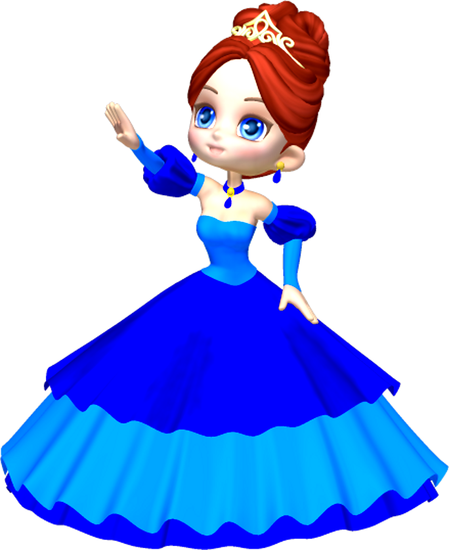 653x800 Princess In Blue Poser Png Clipart (1) By Clipartcotttage