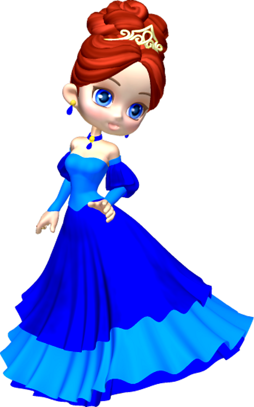 500x800 Princess In Blue Poser Png Clipart (11) By Clipartcotttage