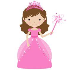 236x236 Little Girl Princess Clipart