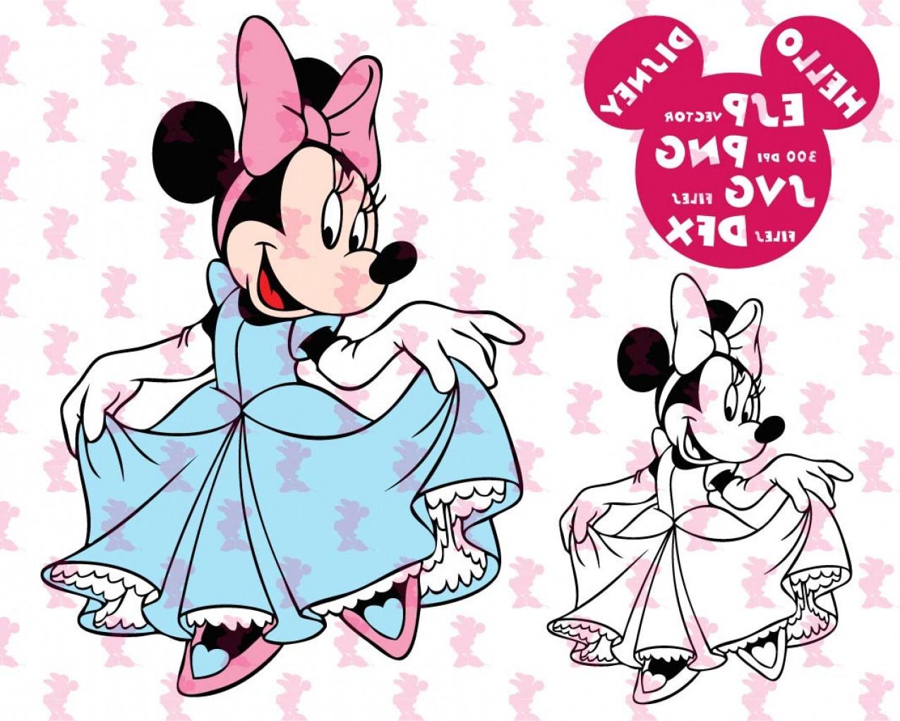 1275x1021 Minnie Mouse Vector Clip Art Createmepink