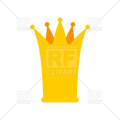 400x400 Golden Catroon Princess Crown Royalty Free Vector Clip Art Image