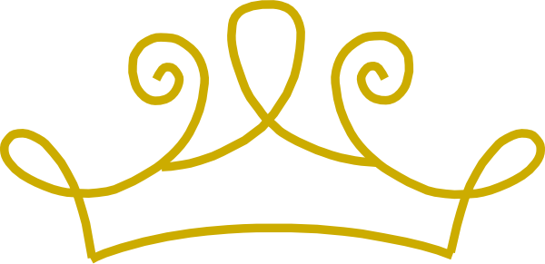 600x291 Crown Clipart Golden Princess