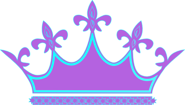 600x341 Blue Clipart Princess Crown