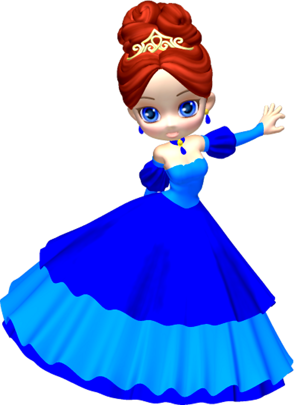 581x800 Princess In Blue Poser Png Clipart (20) By Clipartcotttage