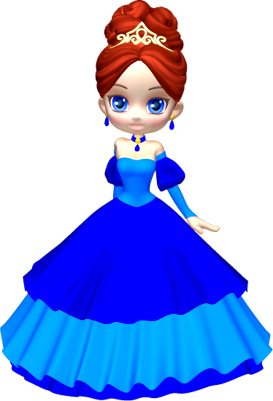 546x800 Princess In Blue Poser Png Clipart (5) By Clipartcotttage