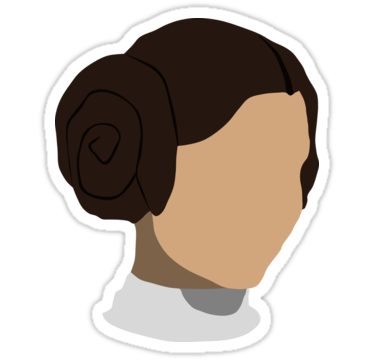375x360 Princess Leia Head Stickers By Feztivus Redbubble