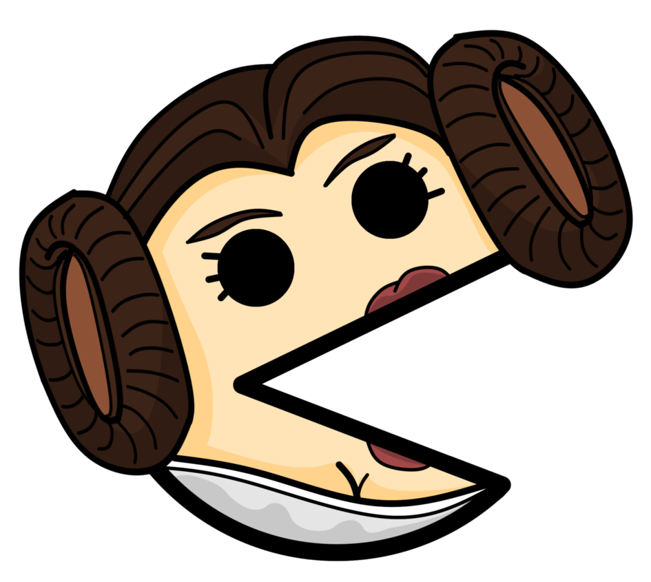 945x845 Princess Leia Pacman By Suddenwolf