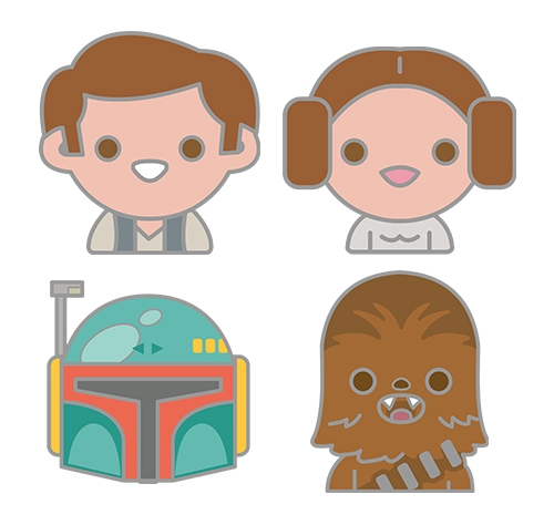 500x474 Star Wars Celebration Original Trilogy Emoji Pin Set 4 Pack