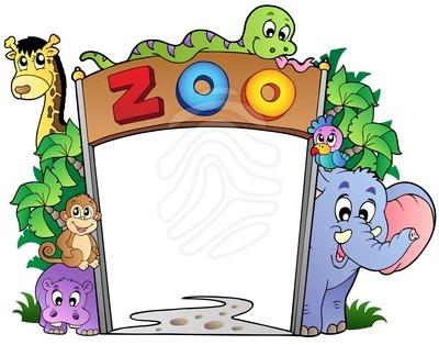 400x314 Clip Art Zoo Animals