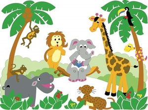 300x222 Free Printable Baby Jungle Animal Clipart Free Images