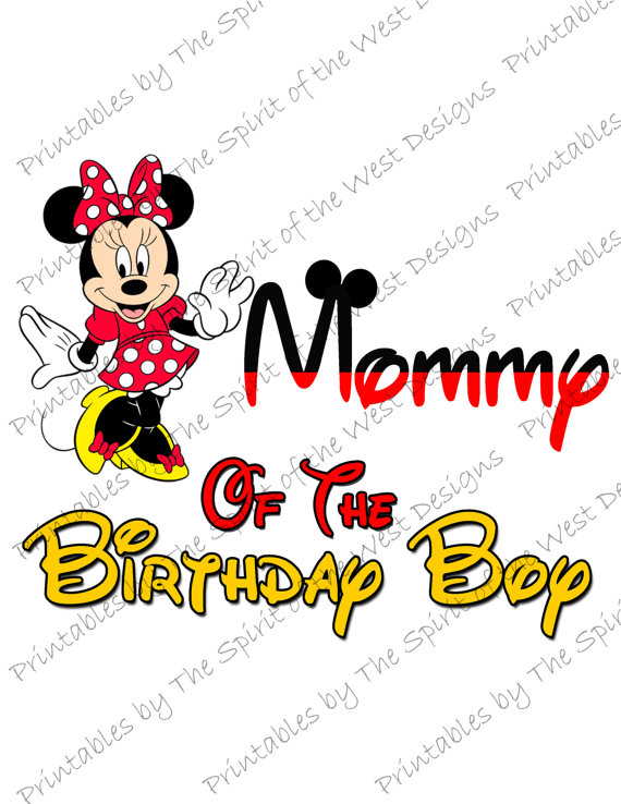 570x738 Mommy Of The Birthday Boy Minnie Mouse Iron On Image Mouse Ears