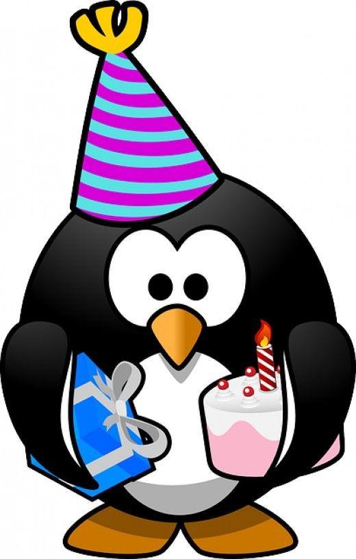 520x816 Birthday Clip Art Penguins, Clip Art And Birthdays