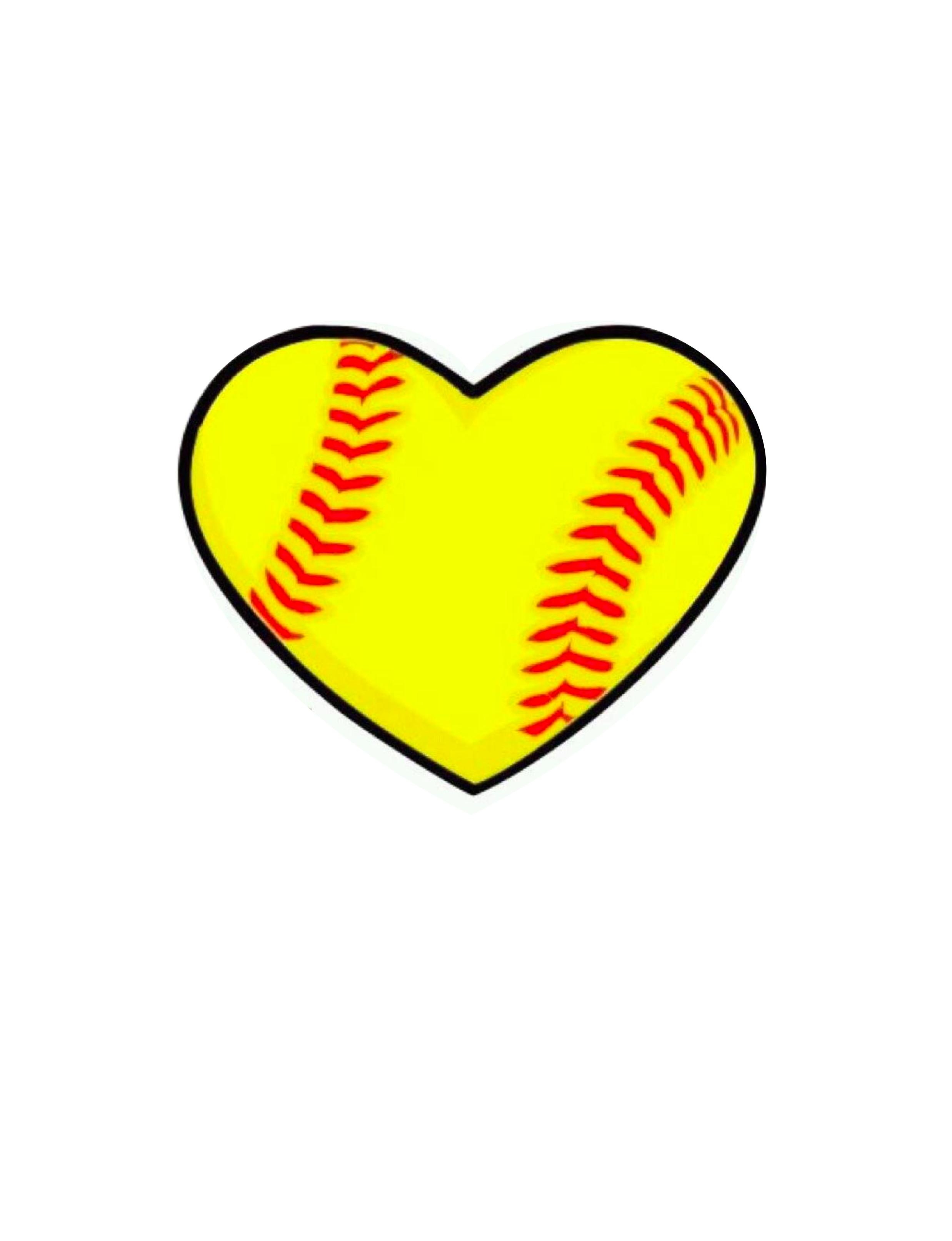2475x3225 Free Printable Softball Clip Art Mselite97 Fastpitch Showy Heart