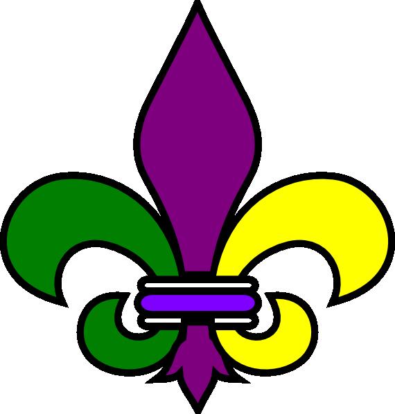 570x598 Mardi Gras Clip Art Printable Saints Fleur De Lis New Orleans