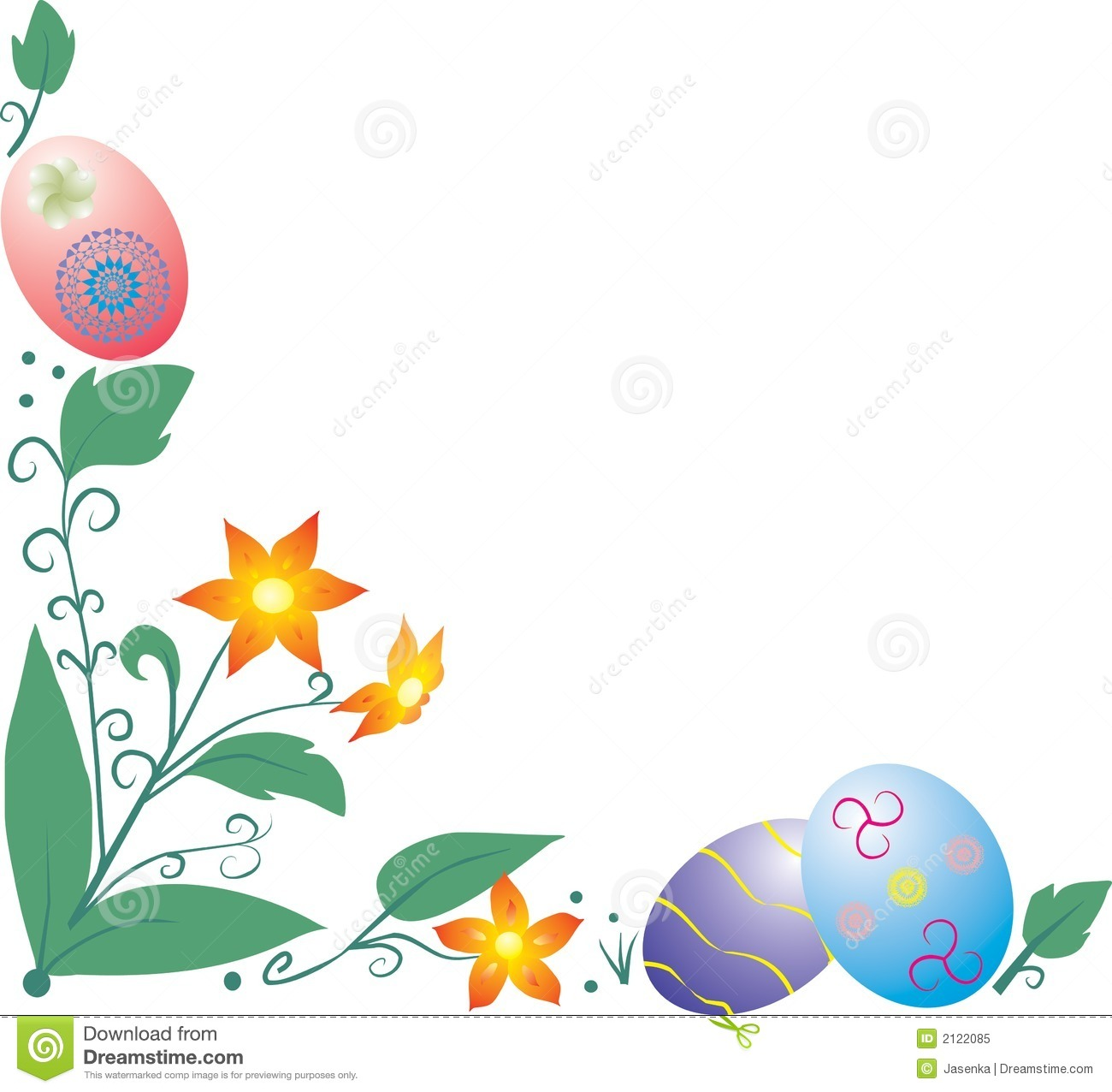 1300x1276 Easter Flowers Borders Clip Art Happy Easter 2018
