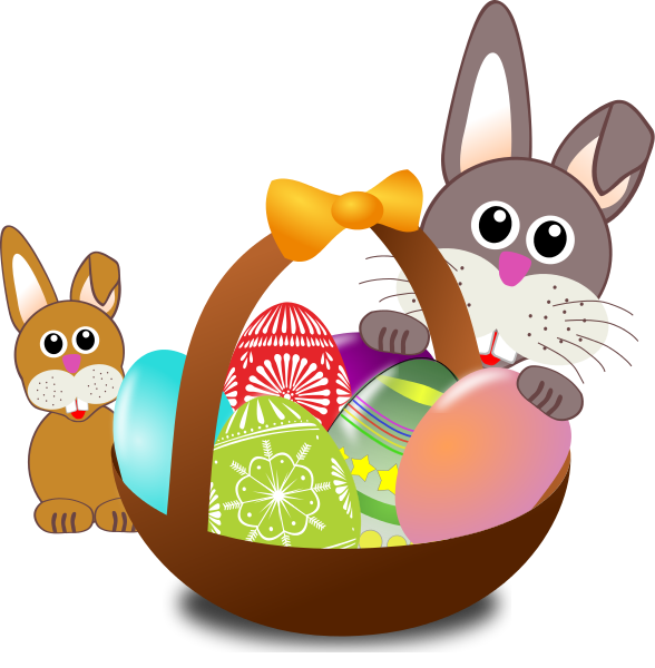 588x600 Free Printable Easter Clip Art Merry Christmas And Happy New