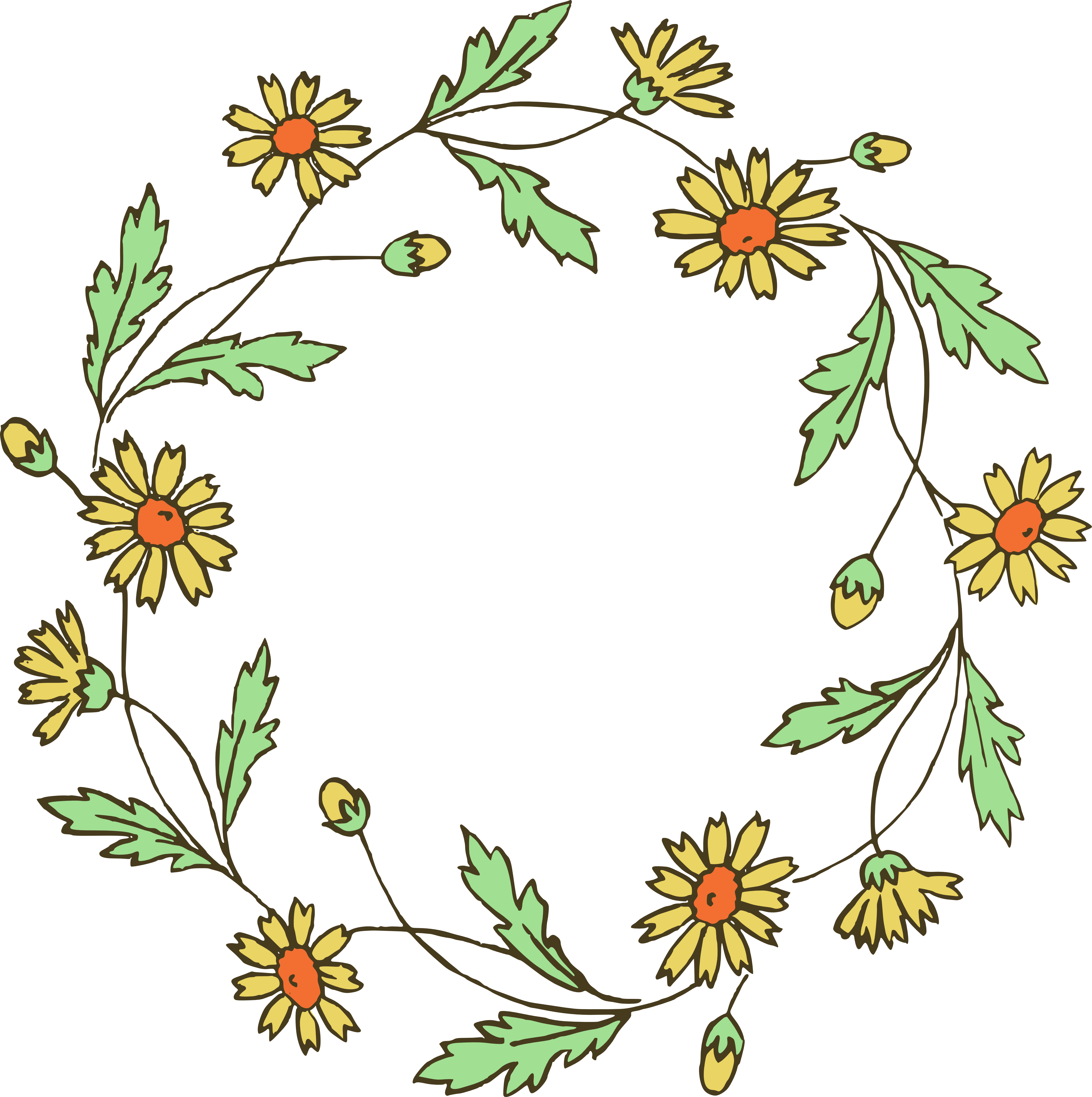 4686x4707 Floral Wreath Clip Art Amp Vector Images Oh So Nifty Vintage Graphics