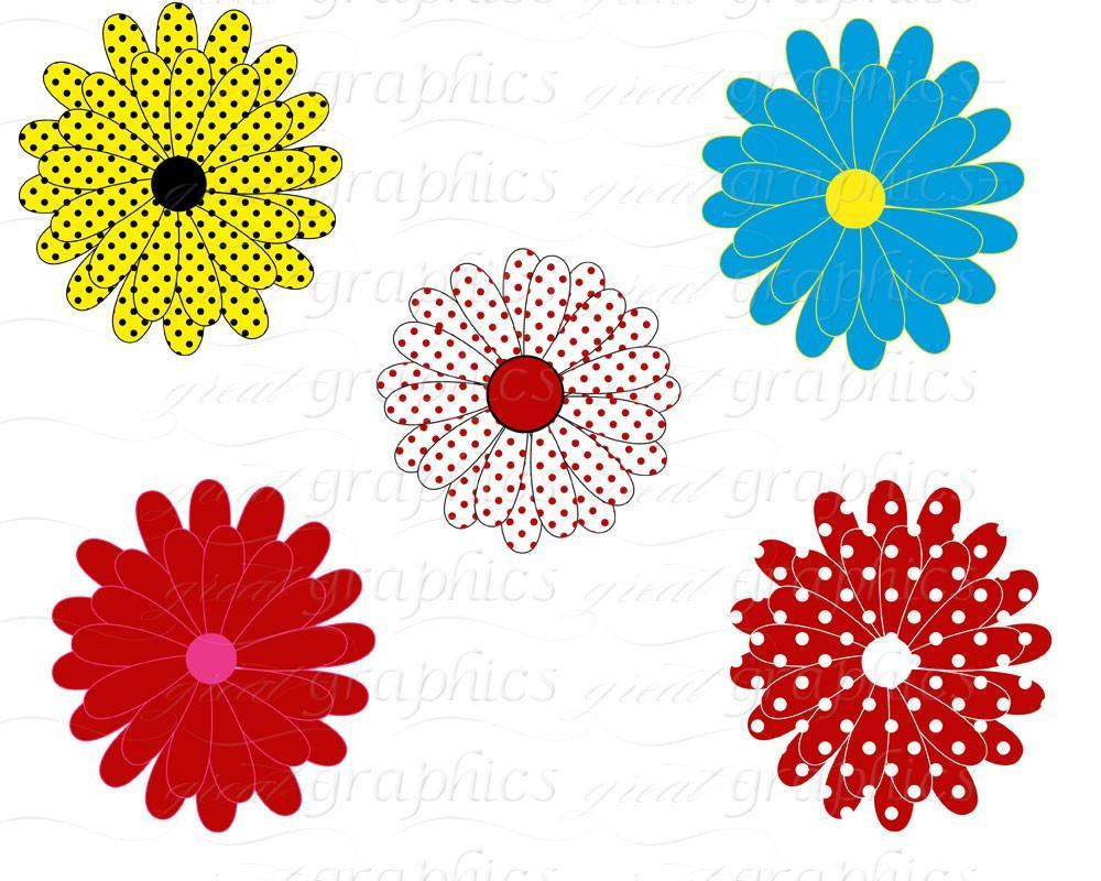1000x800 Flower Digital Clip Art Flower Clipart Printable Daisy Clipart