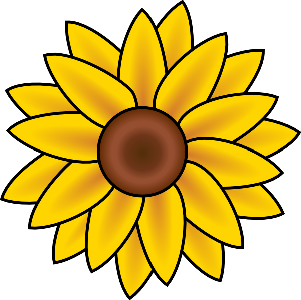 600x598 Free Printable Sunflower Stencils Sunflower Clip Art