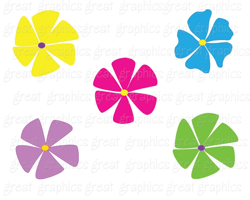 800x640 Funky Flower Clip Art Clipart