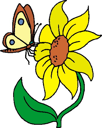 349x439 Long Stem Sunflower Clipart