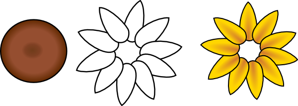 600x213 Petal Clipart Layered Flower