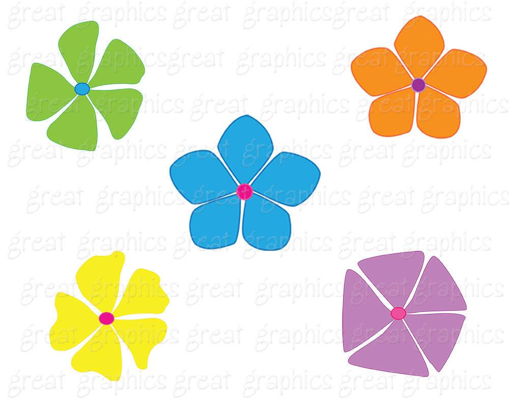 1000x800 Retro Clipart Retro Flower Clipart Digital Retro Clip Art Flower