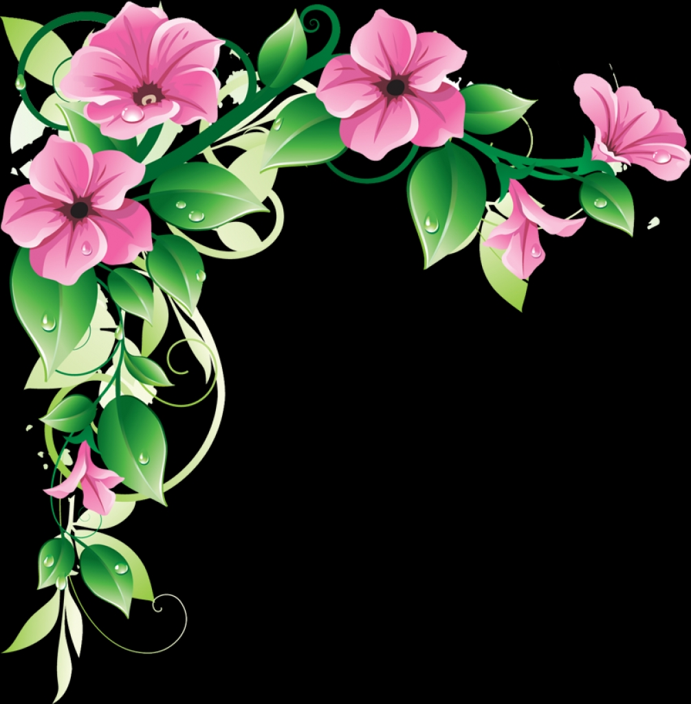 1005x1024 Flower Border Free Printable Clip Art Borders Free Digital Flower