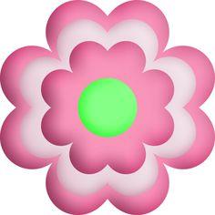 236x236 Blue Amp Pink Flower Flower Clipart Flower Clipart