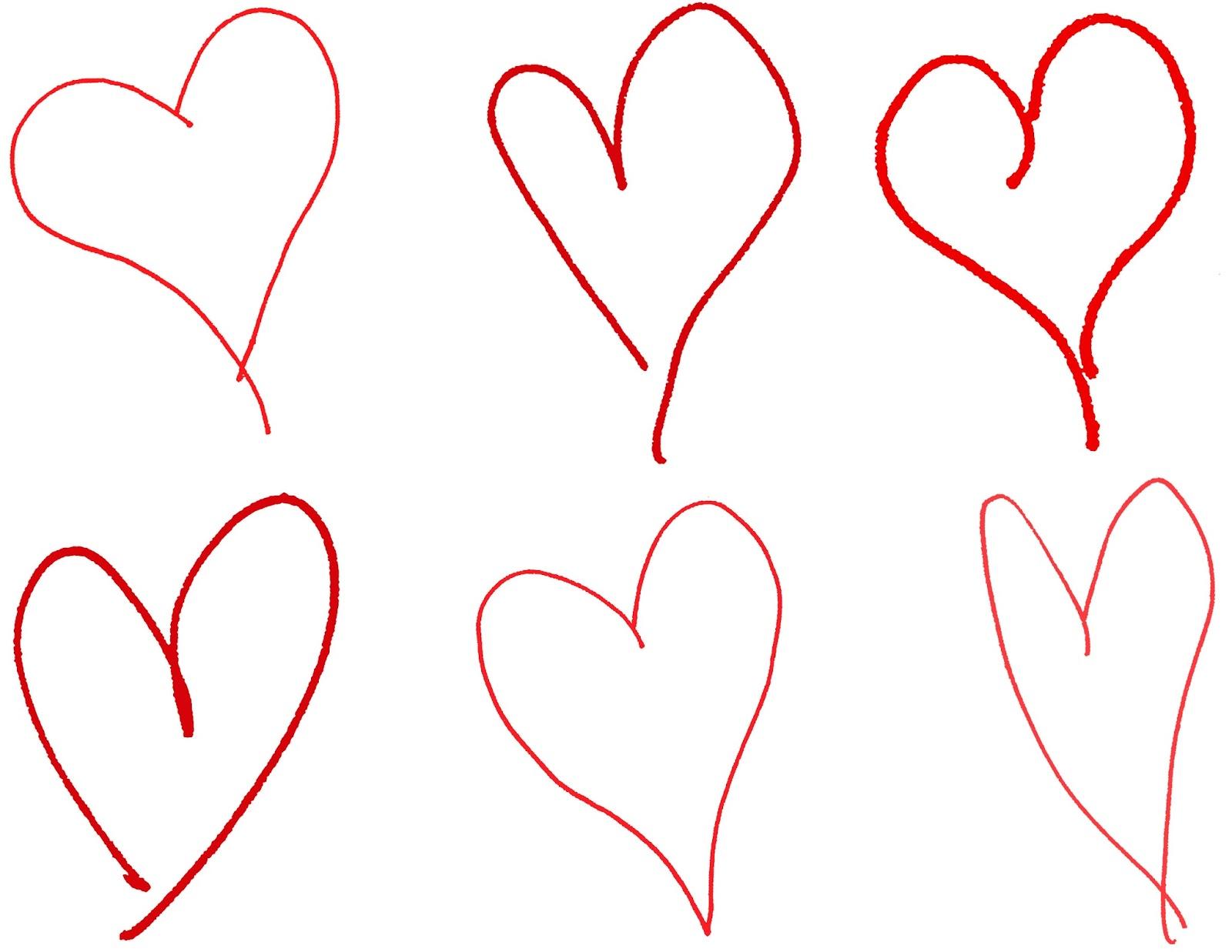 1600x1237 Digital Stamp Design Hand Drawing Hearts Royalty Free Valentine