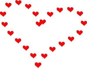 300x232 Heart Clipart Image Clip Art Illustration Of A Big Heart Shaped